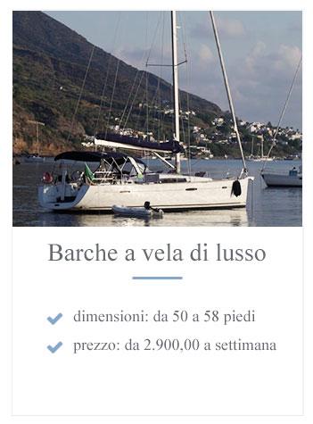 Noleggio barca a vela di lusso