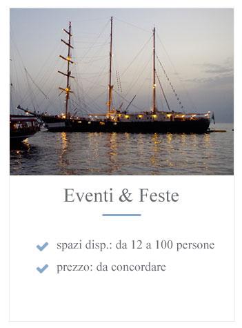 Eventi e feste a bordo di barche o caicco