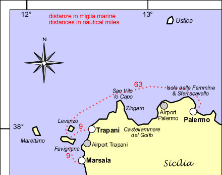Isole Egadi a vela