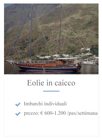 Eolie in caicco