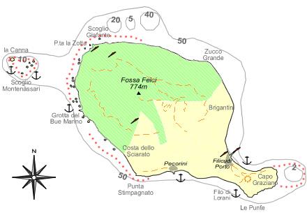 Mappa di Filicudi