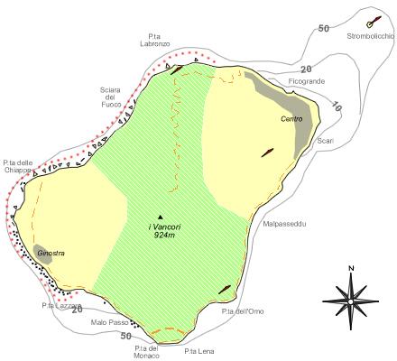 Mappa di Stromboli