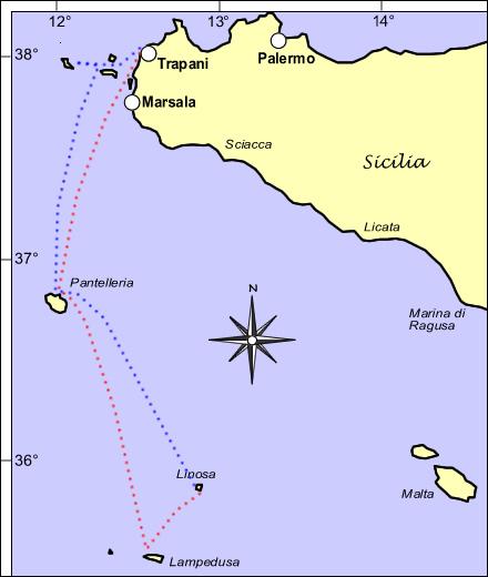 Trapani Lampedusa Linosa