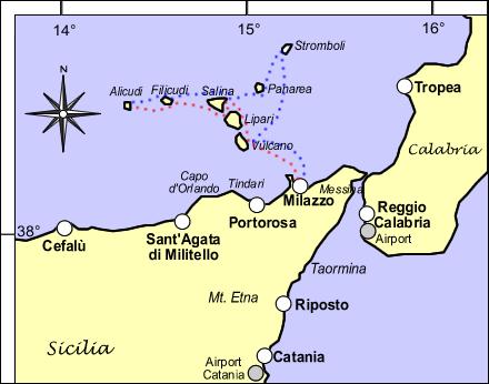 Milazzo - isole Eolie